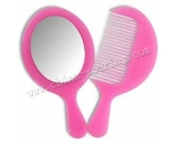 portable cosmetic mirror with comb  LJ3612