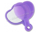 portable cosmetic mirror with comb  LJ3613